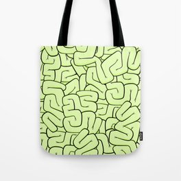 Zombie Brains in Lime Large Tote Bag