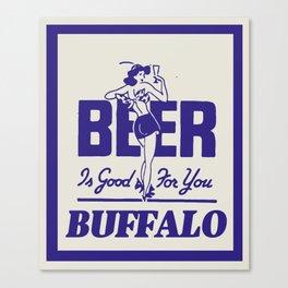 BUFFALO BEER Canvas Print