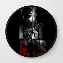 The Last of Us - black blood edition Wall Clock