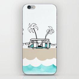 Surfer Van - Surf Art - Gone Surfing iPhone Skin