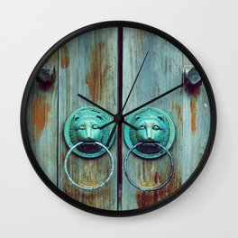 Door Knocker Wall Clock