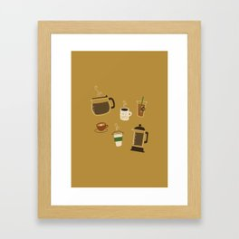 All the Coffee Framed Art Print