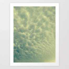 moody bubble clouds Art Print