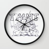 tmnt Wall Clocks featuring TMNT by Jordan Beecham