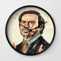 better call saul Wall Clocks featuring saul! by withapencilinhand