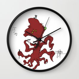 Fancy Monsters are Fancy! Wall Clock