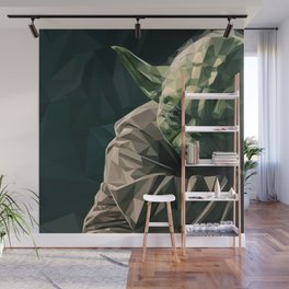 'May the Force be with You' Low Poly Triangle Artwork Wall Mural