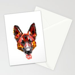 Art Splash German Shepherd design Gift Artistic Dog graphic Stationery Cards