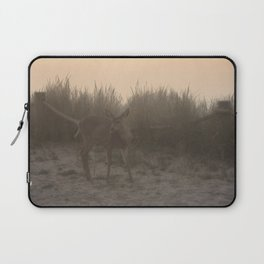 DEER AT SUNSET AT THE BEACH Laptop Sleeve