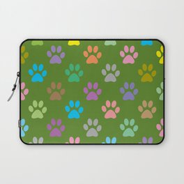 Colorful paws pattern Laptop Sleeve