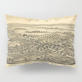 Aerial View of West Chazy, New York (1899) Pillow Sham