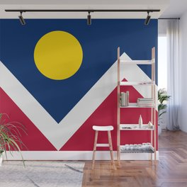 Denver City Flag - Authentic High Quality Wall Mural