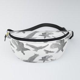 Eagles Fly Black and White Fanny Pack