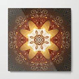 Elegant, decorative kaleidoskop Metal Print