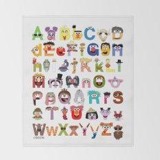 Sesame Street Alphabet Throw Blanket