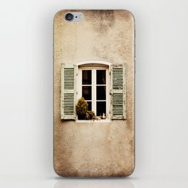 Window with Shutters and Teapot iPhone Skin