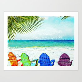 Casey Key Beach Life Art Print