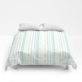 Blush green bohemian arrows zigzag geometrical Comforters