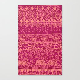 Mountain Tapestry in Sunset Pink Canvas Print