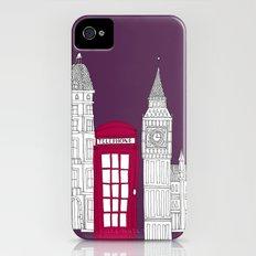 Night Sky // London Red Telephone Box iPhone (4, 4s) Slim Case