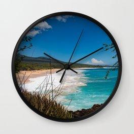 Big Beach from Little Beach Wall Clock
