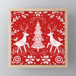 Winter Woodland Scene Framed Mini Art Print