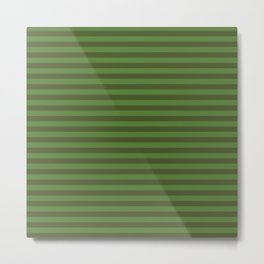 Autumn Time - stripes in dark green and light green Metal Print