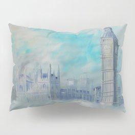 London Palace of Westminster S050 Large impressionism acrylic painting art by artist Ksavera Pillow Sham