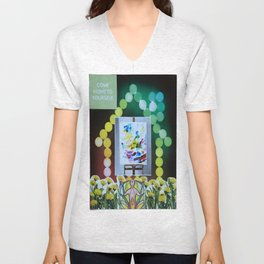 Collage - Come Home to Yourself Unisex V-Neck