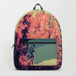 Mod Trees. Pink Purple Teal Backpack