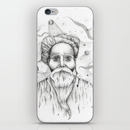 Aim for the moon, land in the stars iPhone Skin
