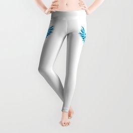 Blue Caduceus Symbol Leggings