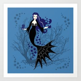 Vampire Mermaid Kunstdrucke