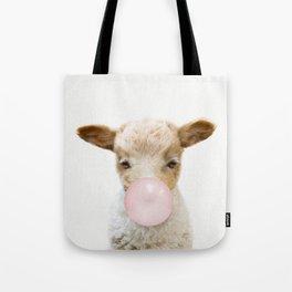Bubble Gum Baby Lamb Tote Bag