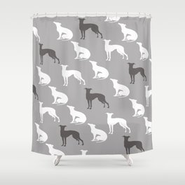Greyhound Dogs Pattern Shower Curtain