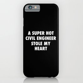 Civil Engineer Gift, Engineering Student Graduation iPhone Case