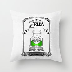 Zelda legend - Green potion  Throw Pillow