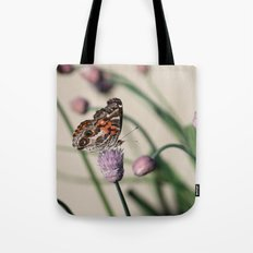 Butterfly and Chives Tote Bag