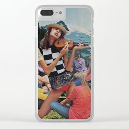 Lay Your Burdens Down Clear iPhone Case