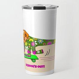 Schools Out for Brenda the Dinosaur Travel Mug