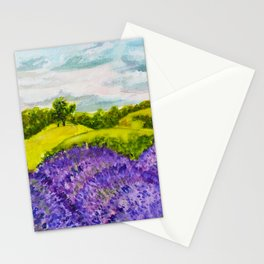 Lavender Fields Watercolor Stationery Cards