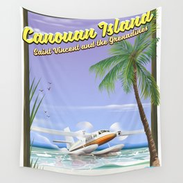 Canouan Islands travel poster Wall Tapestry