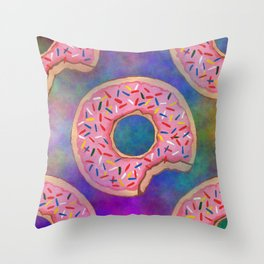 Heavenly Donuts Throw Pillow