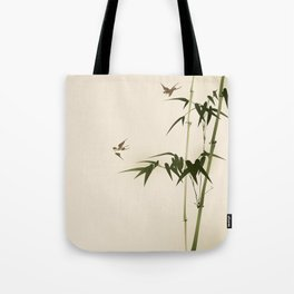 Oriental style bamboo branches 001 Tote Bag