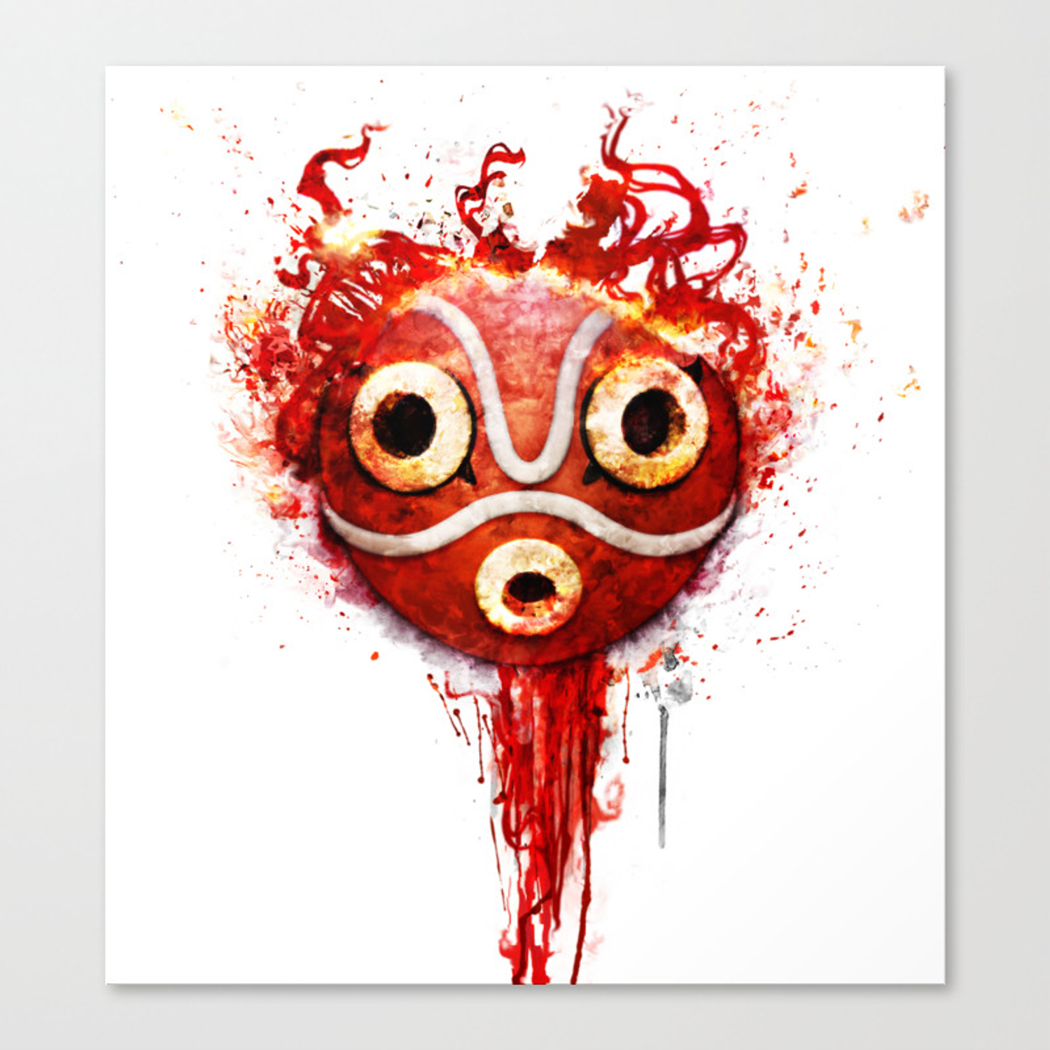 Princess Mononoke Mask Canvas Print By Ururuty Society6