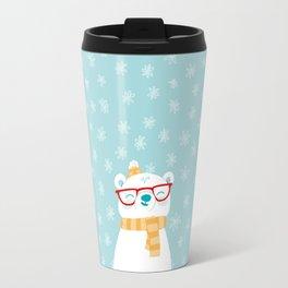 Hipster Polar Bear 1 Travel Mug