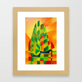 Chinese Junks, Sunset, Sails and Shadows Framed Art Print