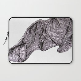Abstract organic line drawing doodle. Laptop Sleeve