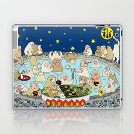 Snow Monkeys in Hot Spa Laptop & iPad Skin