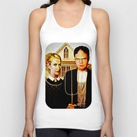 dwight Tank Tops featuring Dwight Schrute & Angela Martin (The Office: American Gothic) by Silvio Ledbetter
